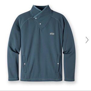 Mens Stio Kita Fleece Pullover Orion Blue Size XL